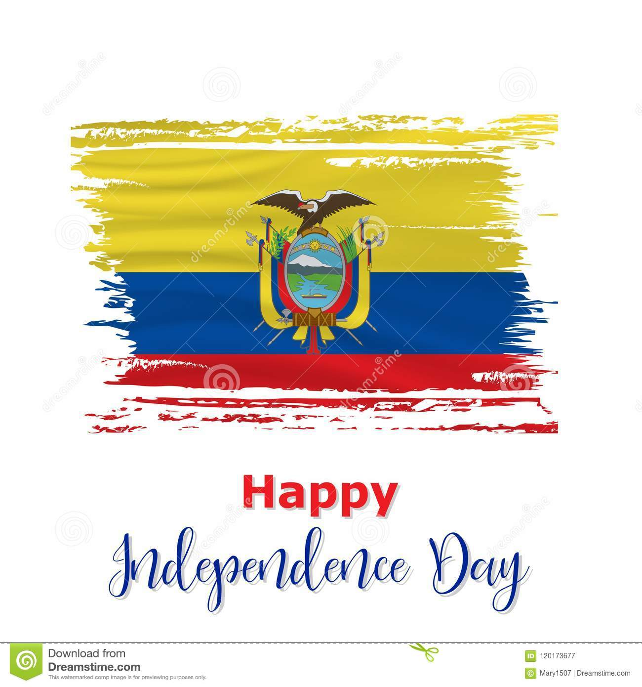 10 august ecuador independence day background stock vector