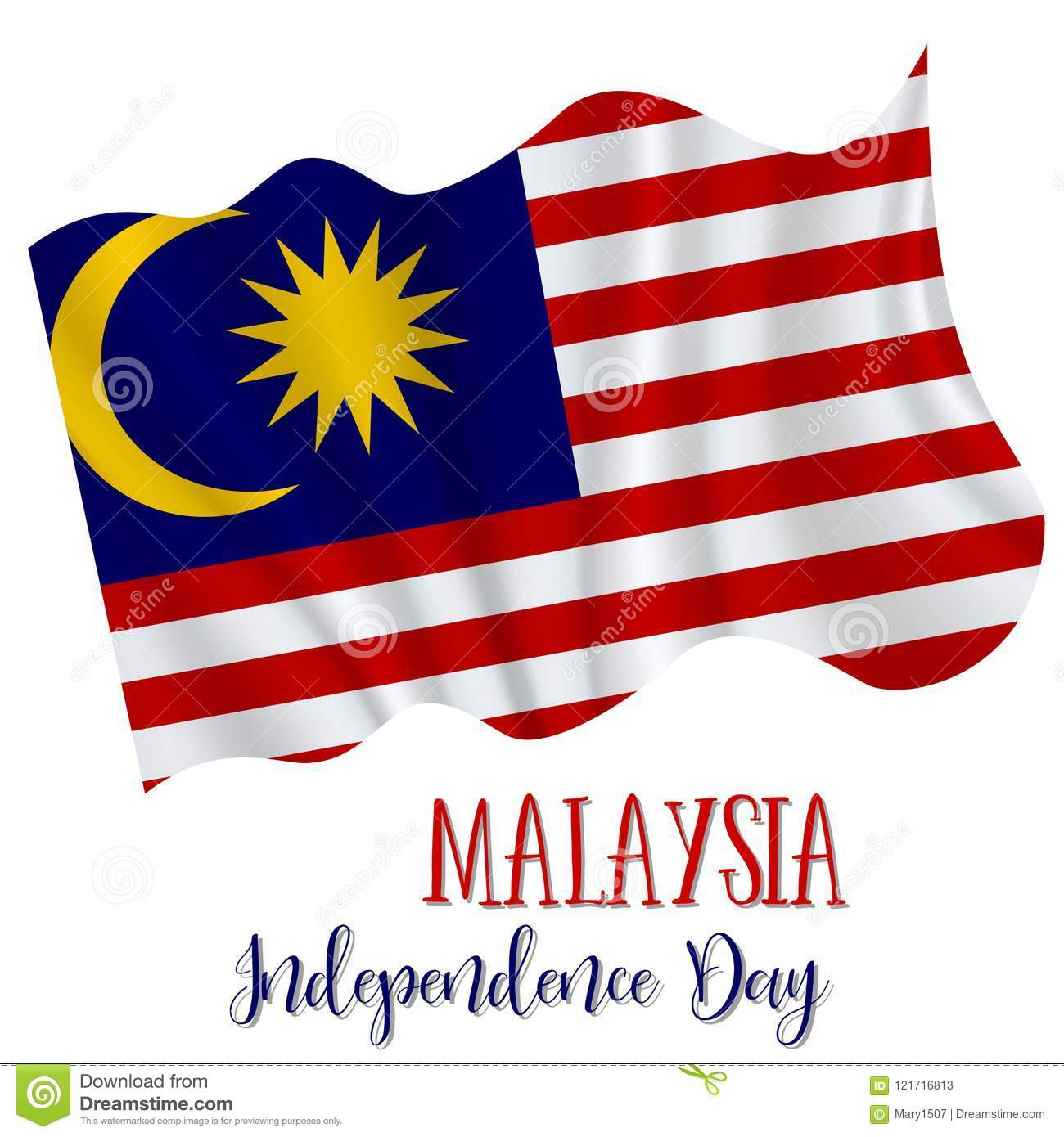 31 August Malaysia Independence Day Background In National Flag Color Theme Gabon Celebration Banner With Waving Vector Illustration