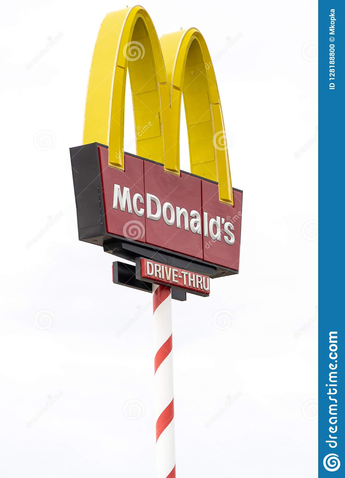 NORTH POLE, ALASKA: McDonalds Sign In A Candy Cane Pole Decorations ...