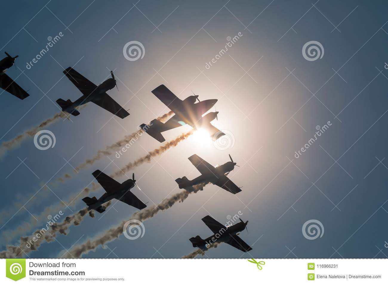 August 19, 2017 Orlovk`s Airfield. Russia, Tver region. Holiday `Day of Aircraft`.