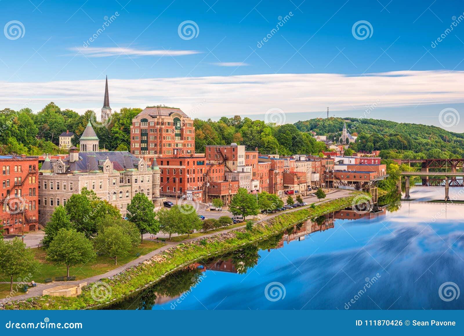 Augusta, Maine, USA-Skyline