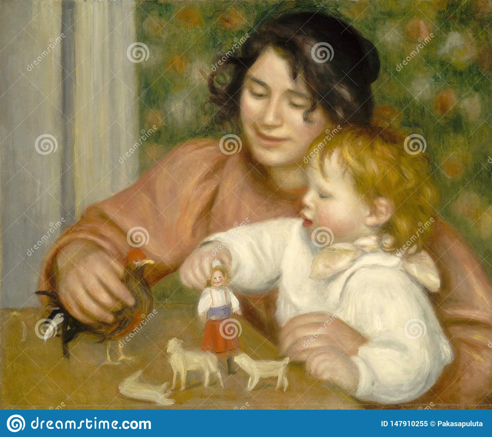 Auguste Renoir -child With Toys - Gabrielle And The Artist S Son