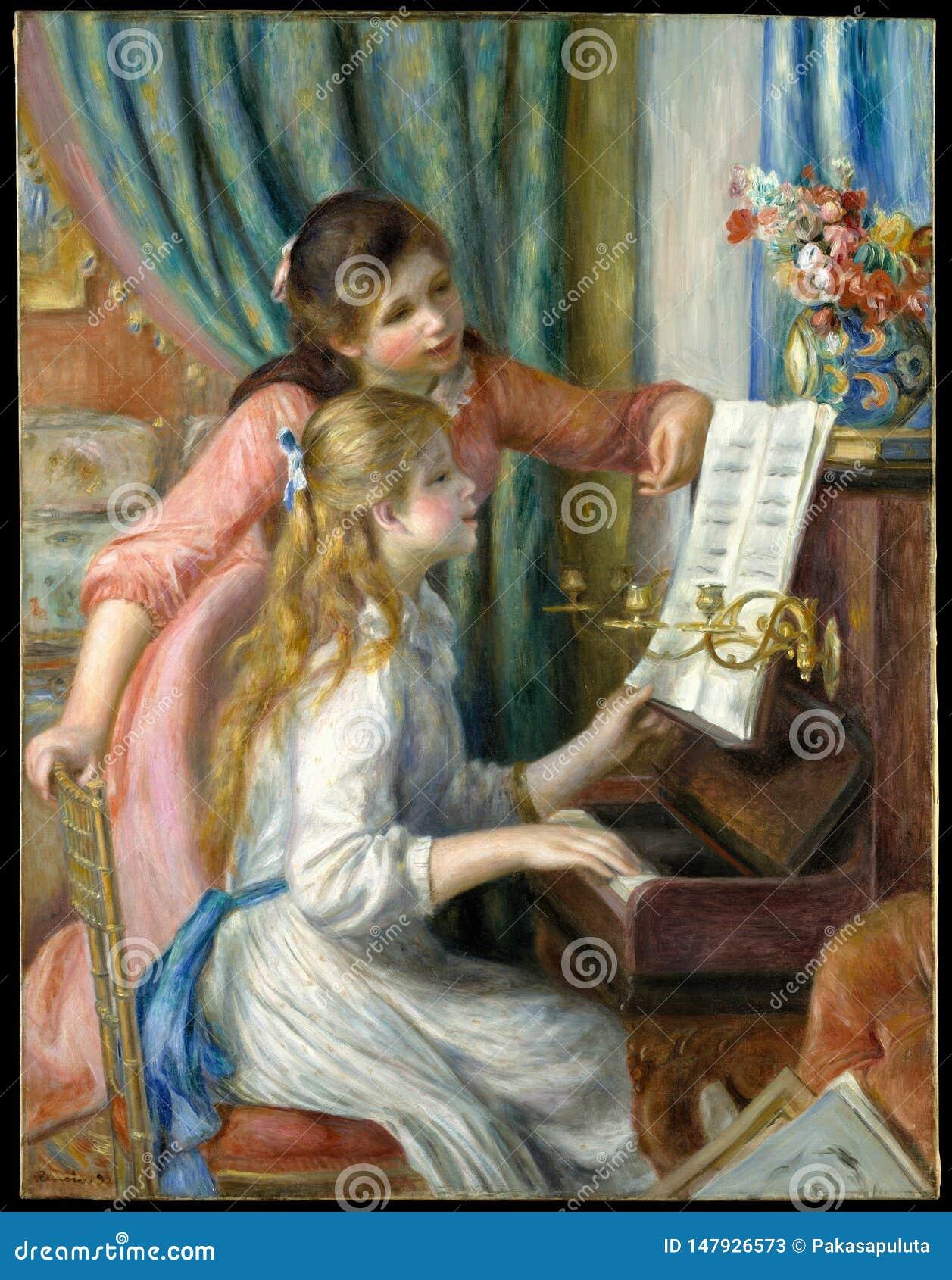 Auguste Renoir - zwei junge Mädchen am Klavier