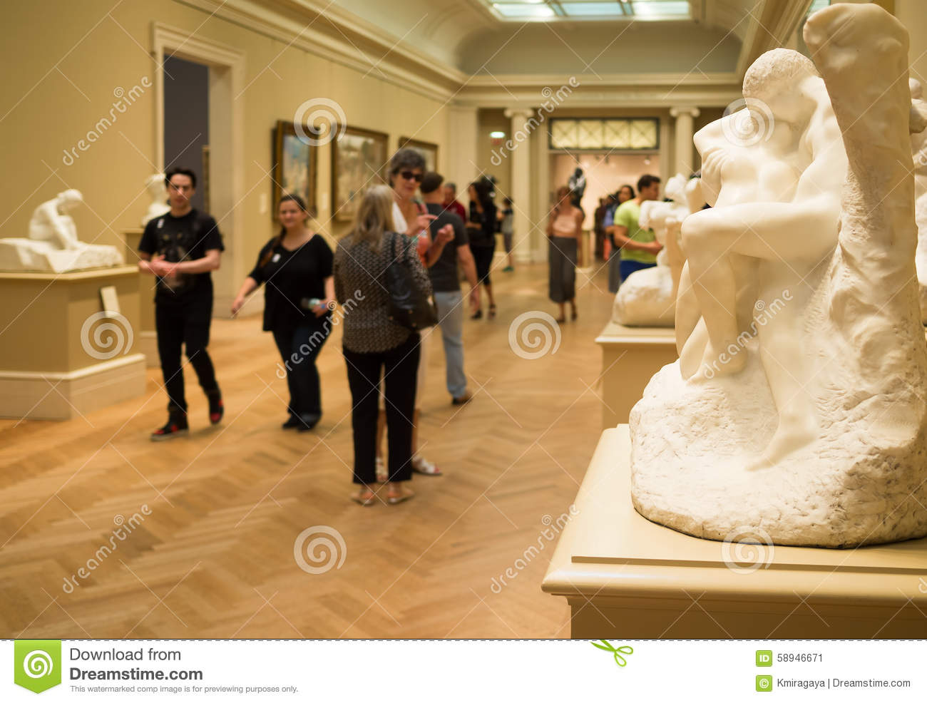 Auguste Rodin Sculptures At The Met Museum In New York Editorial - Famous art museums in usa
