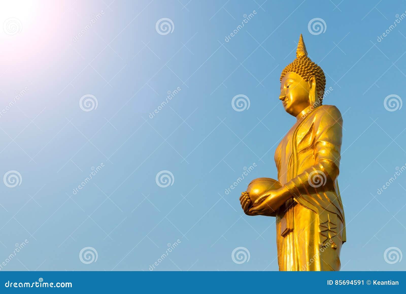 Aumône de Bouddha au ciel