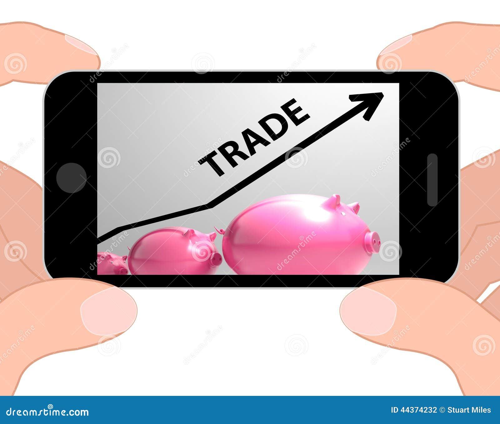 Aumento commerciale delle esposizioni del grafico nell acquisto e nella vendita