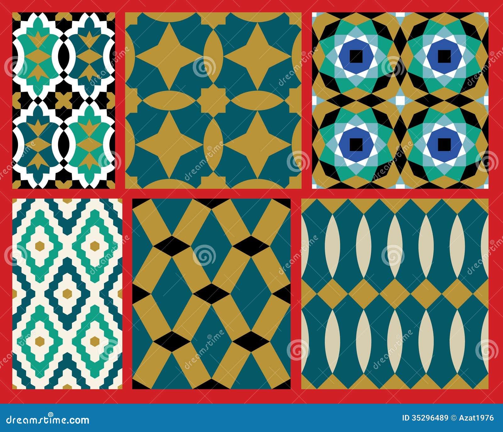 Moroccan geometric pattern royalty free stock photos image 13547078 - Aup Moorish Patterns Set Royalty Free Stock Images