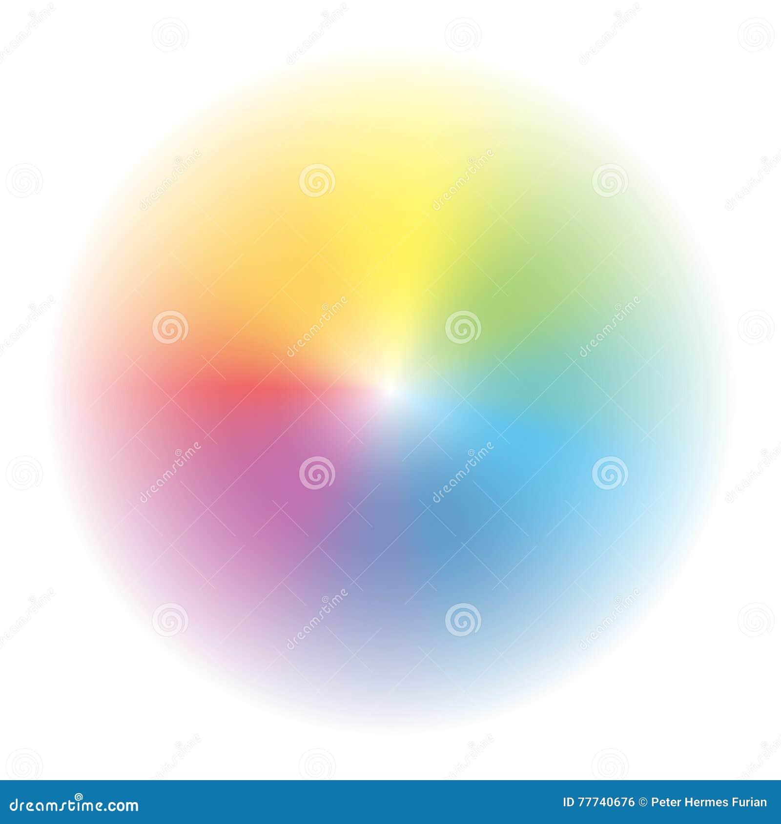 aura rainbow colored gradient circle stock vector illustration of