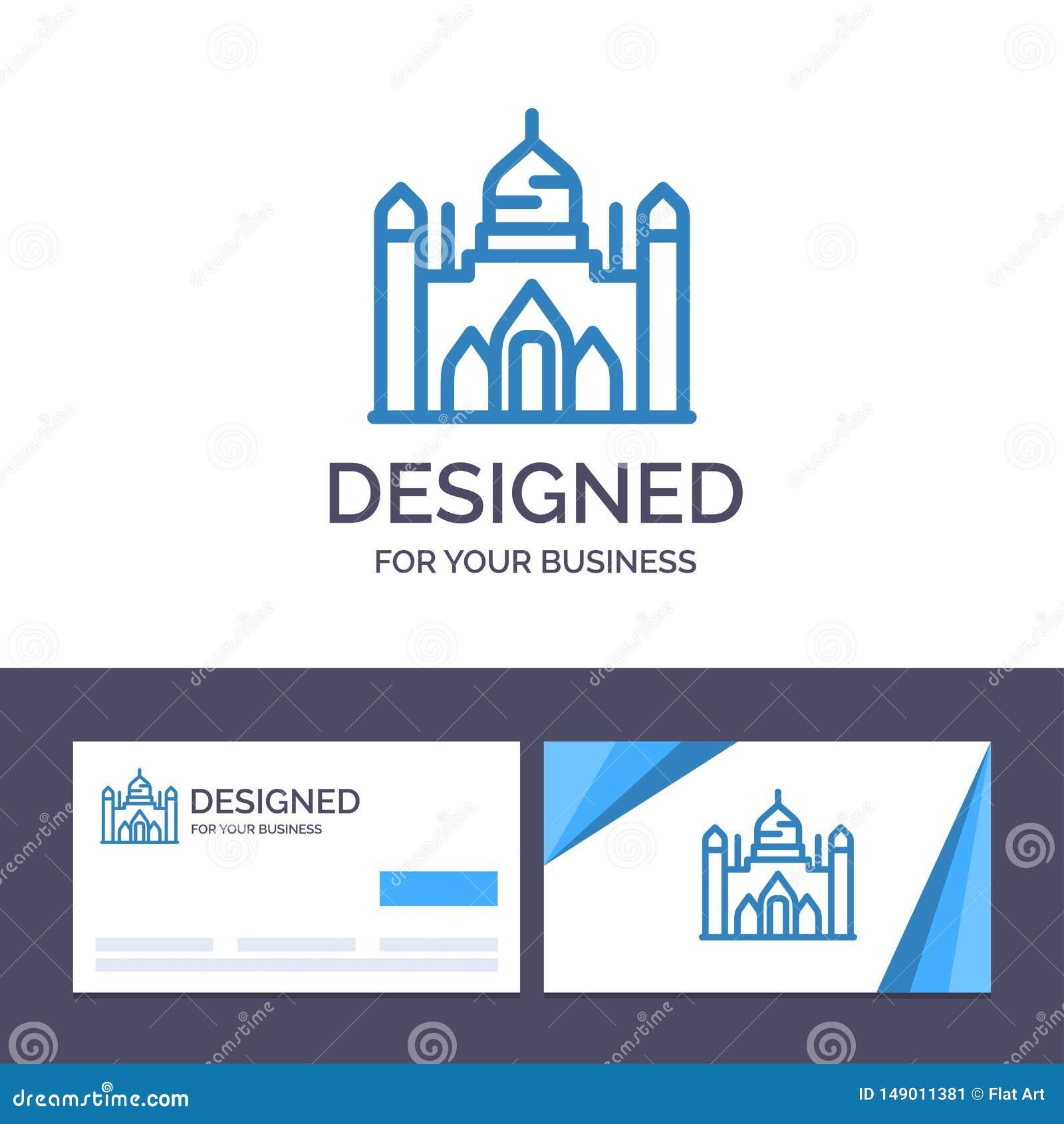 Aurangabad för idérik mall för affärskort och logofort, Bangladesh, Dhaka, Lalbagh vektorillustration