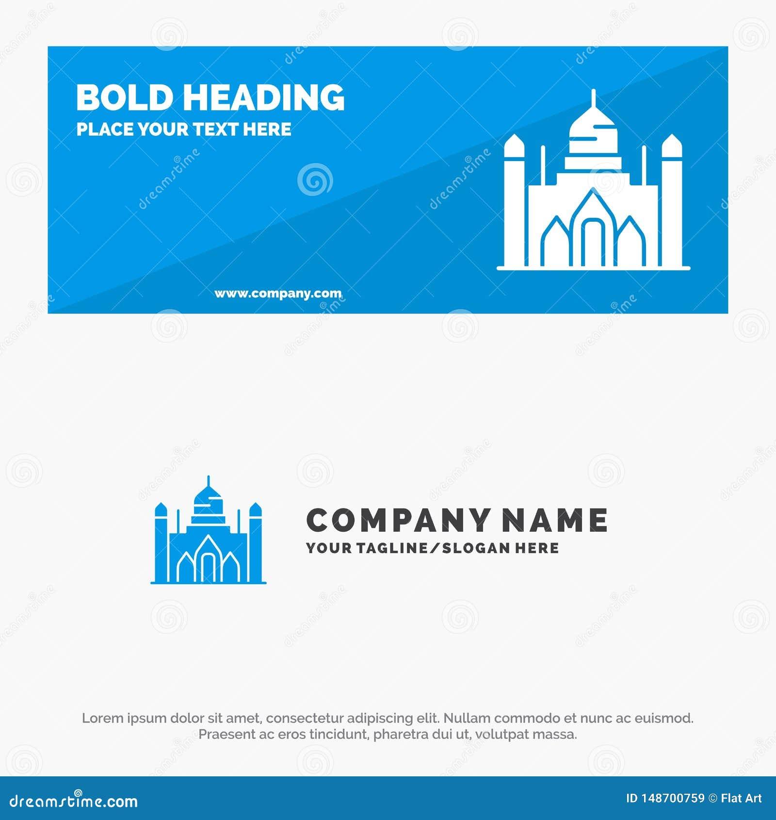 Aurangabad fort, Bangladesh, Dhaka, baner och affär Logo Template för Lalbagh fast symbolsWebsite
