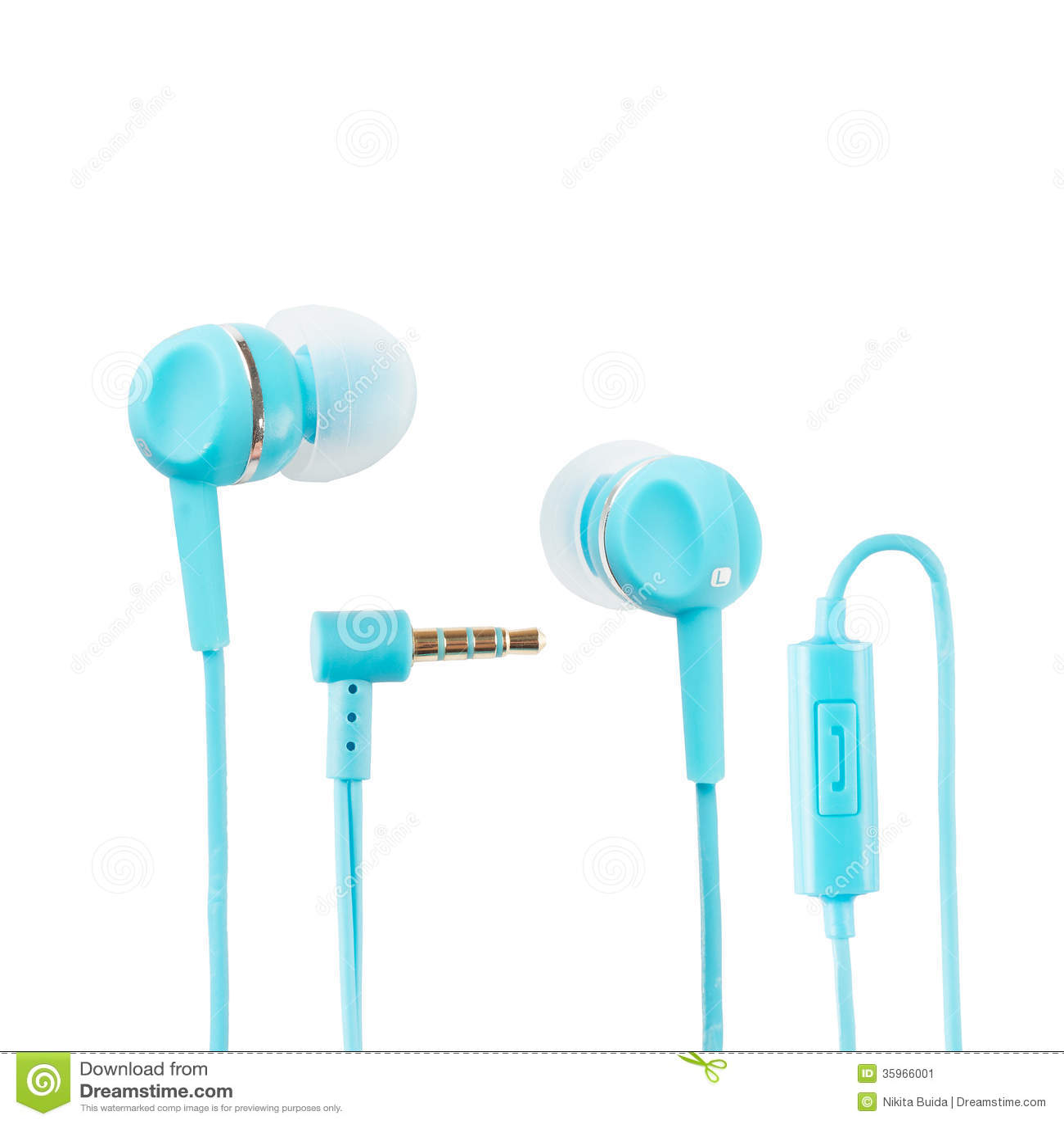 Auriculares azules