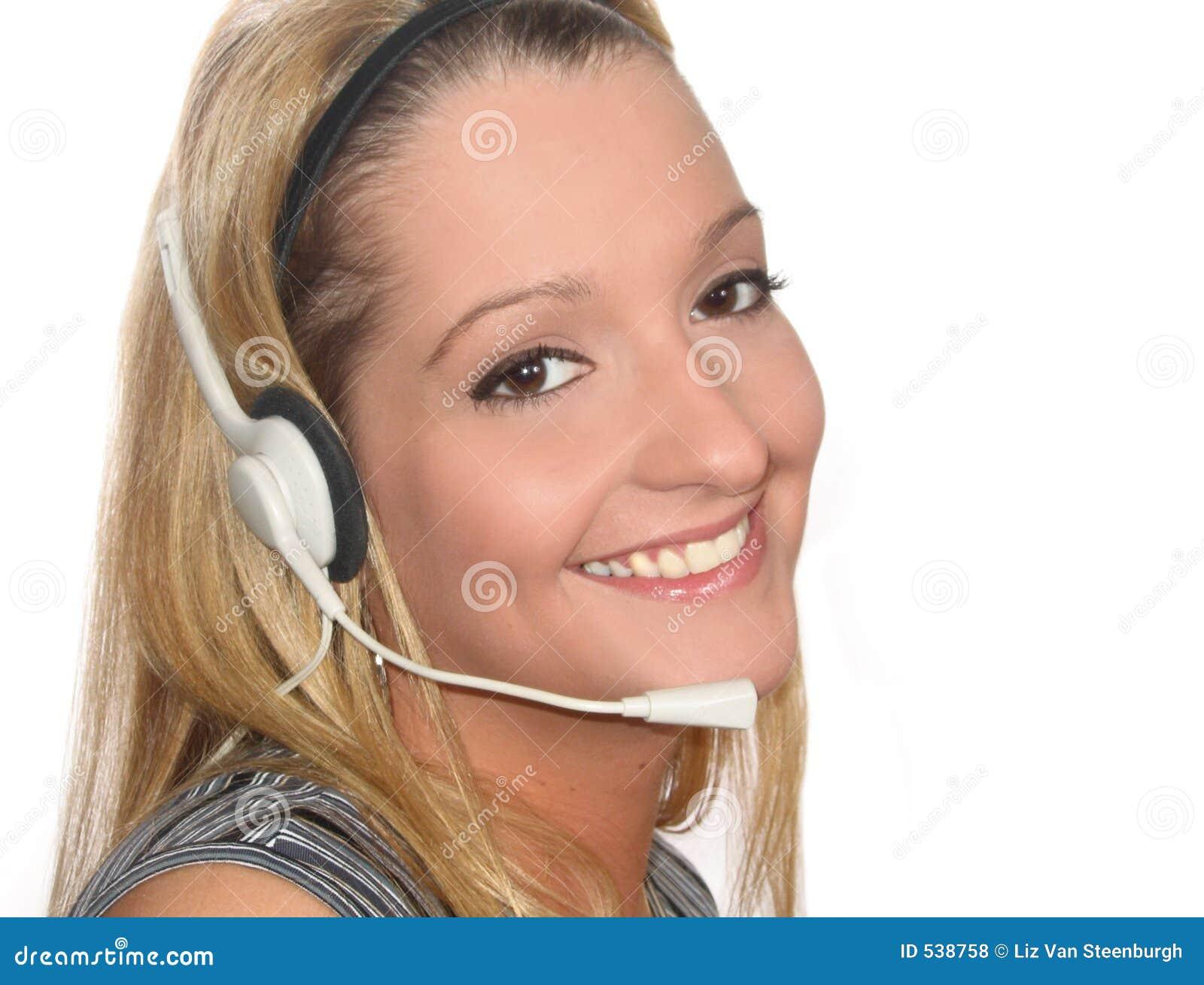 Auriculares da mulher