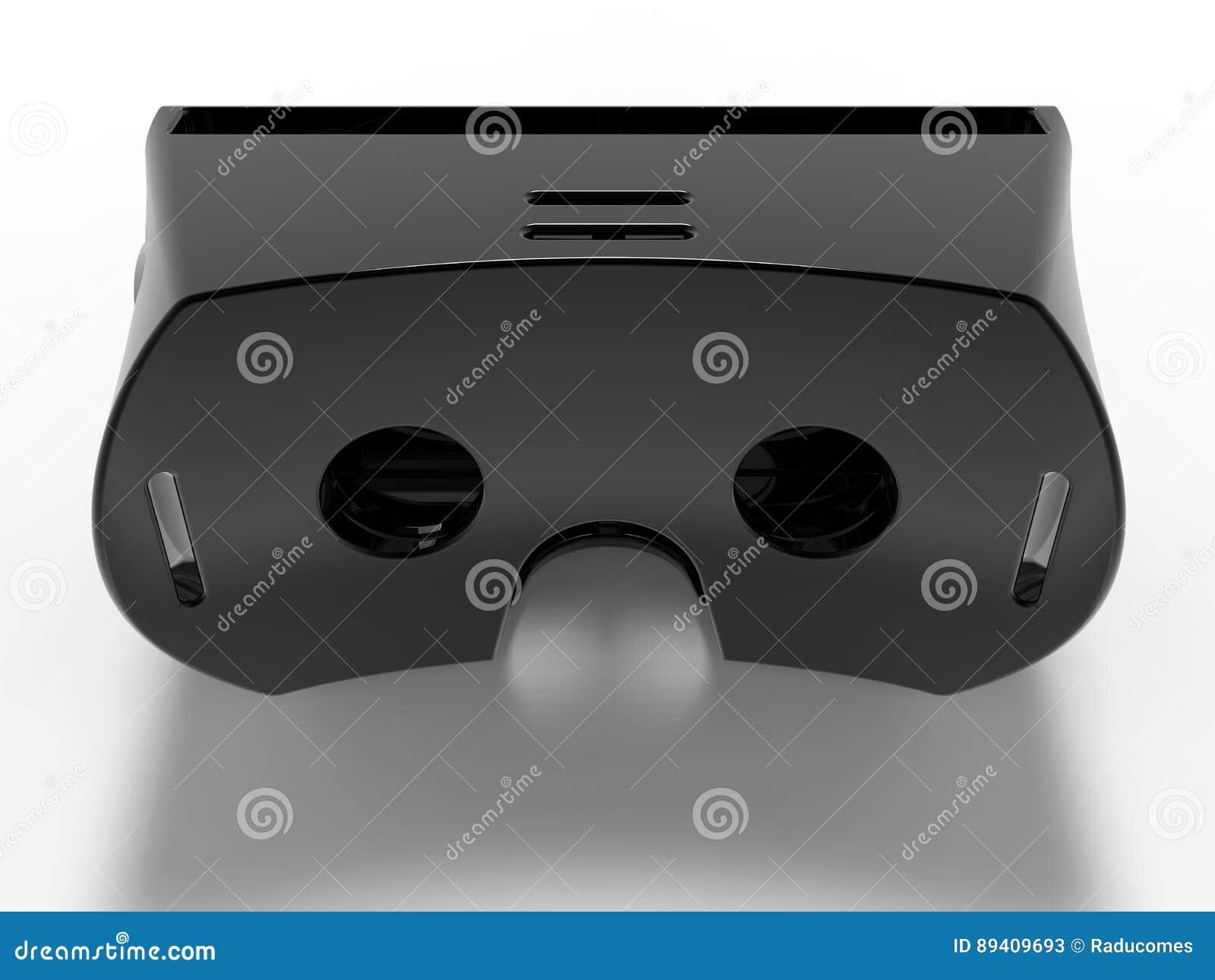 Auriculares pretos da realidade virtual