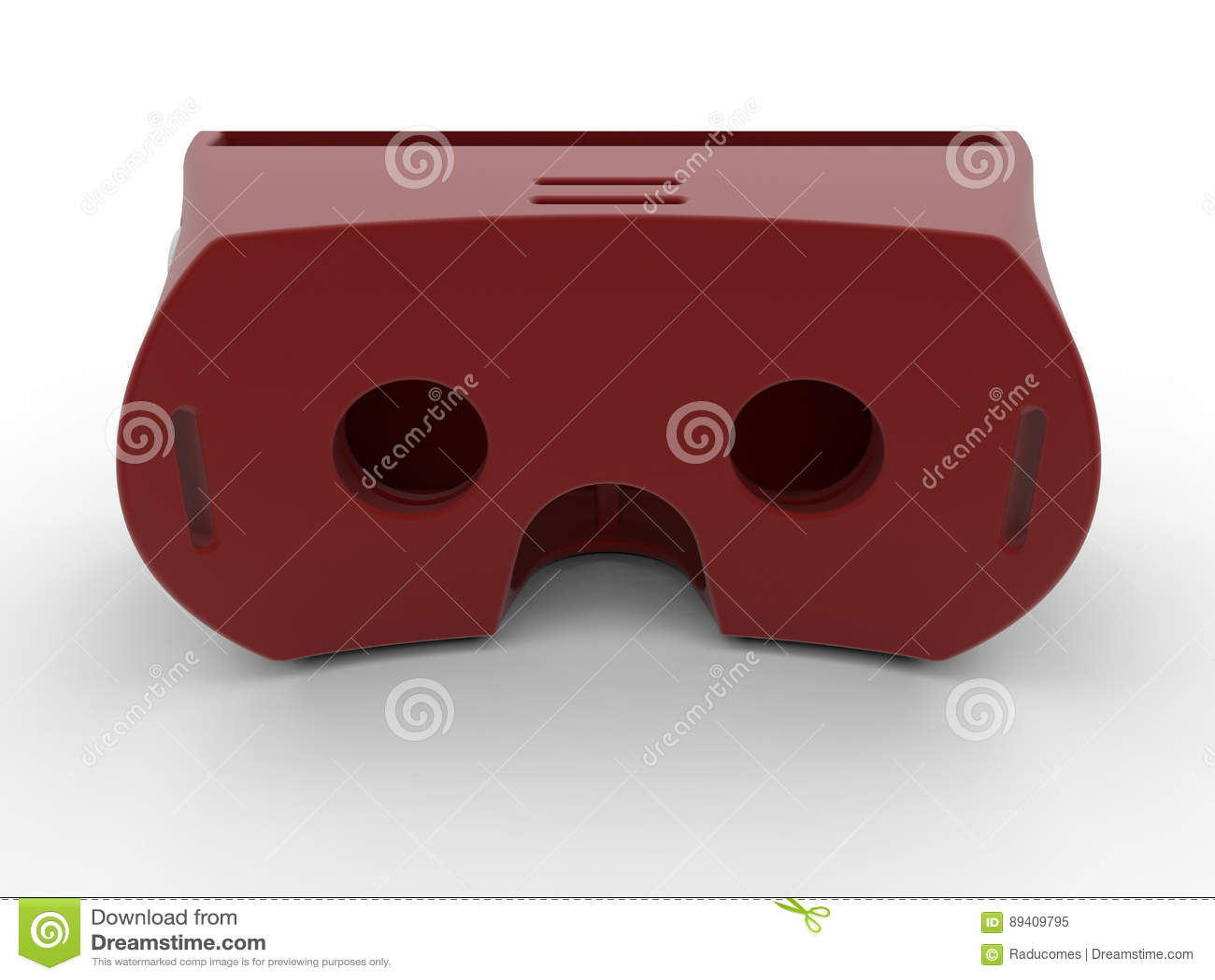 Auriculares vermelhos da realidade virtual