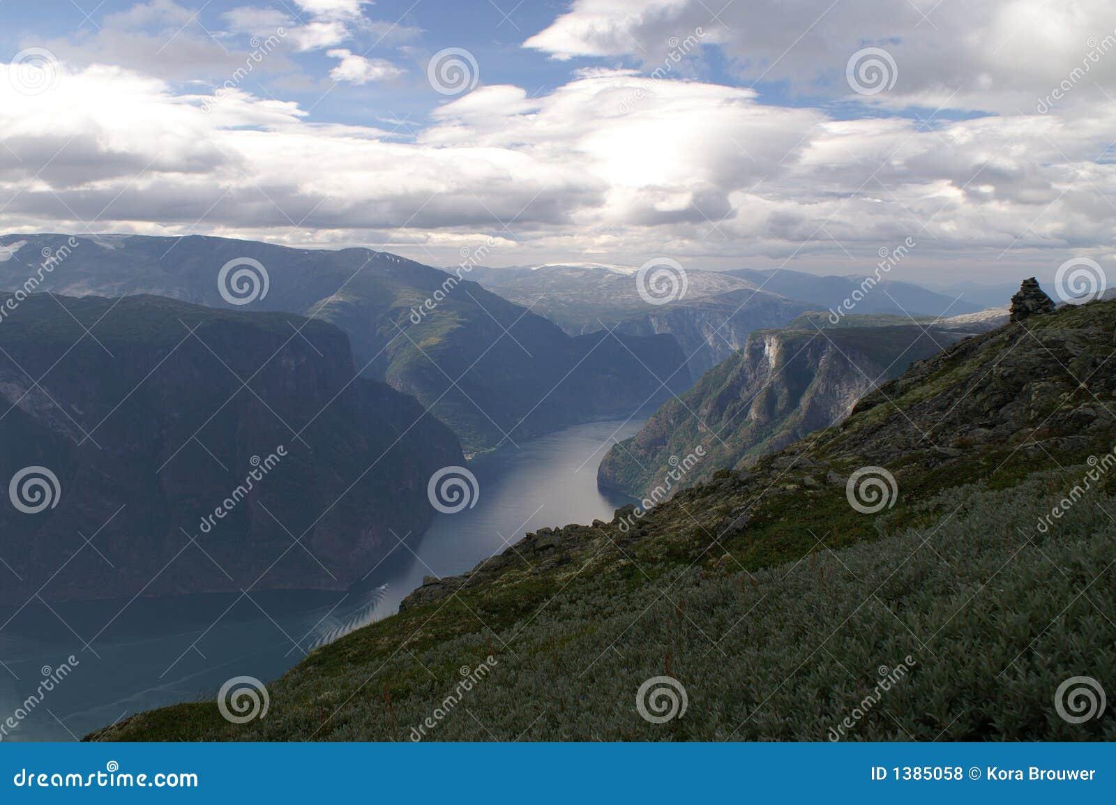 Aurlandsfjord Norway przeglądu