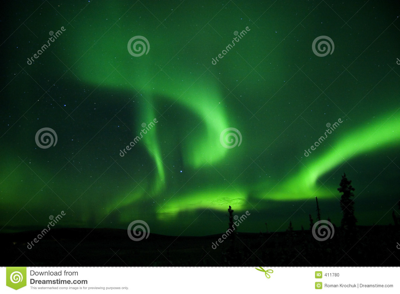 Aurora all over the sky