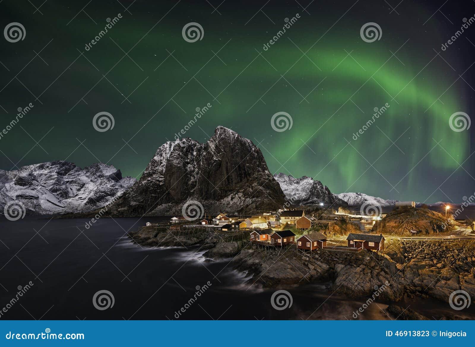 Aurora boreal de Hamnoy