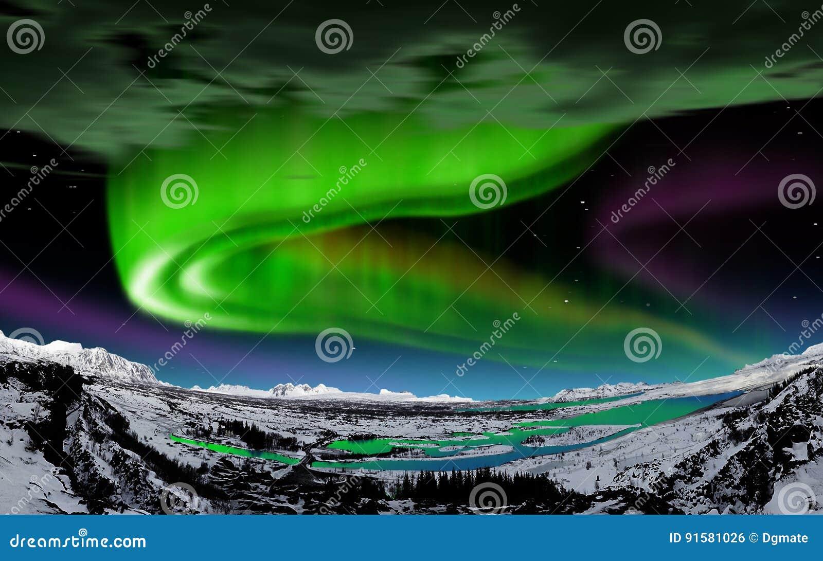 Aurora borealis, IJsland
