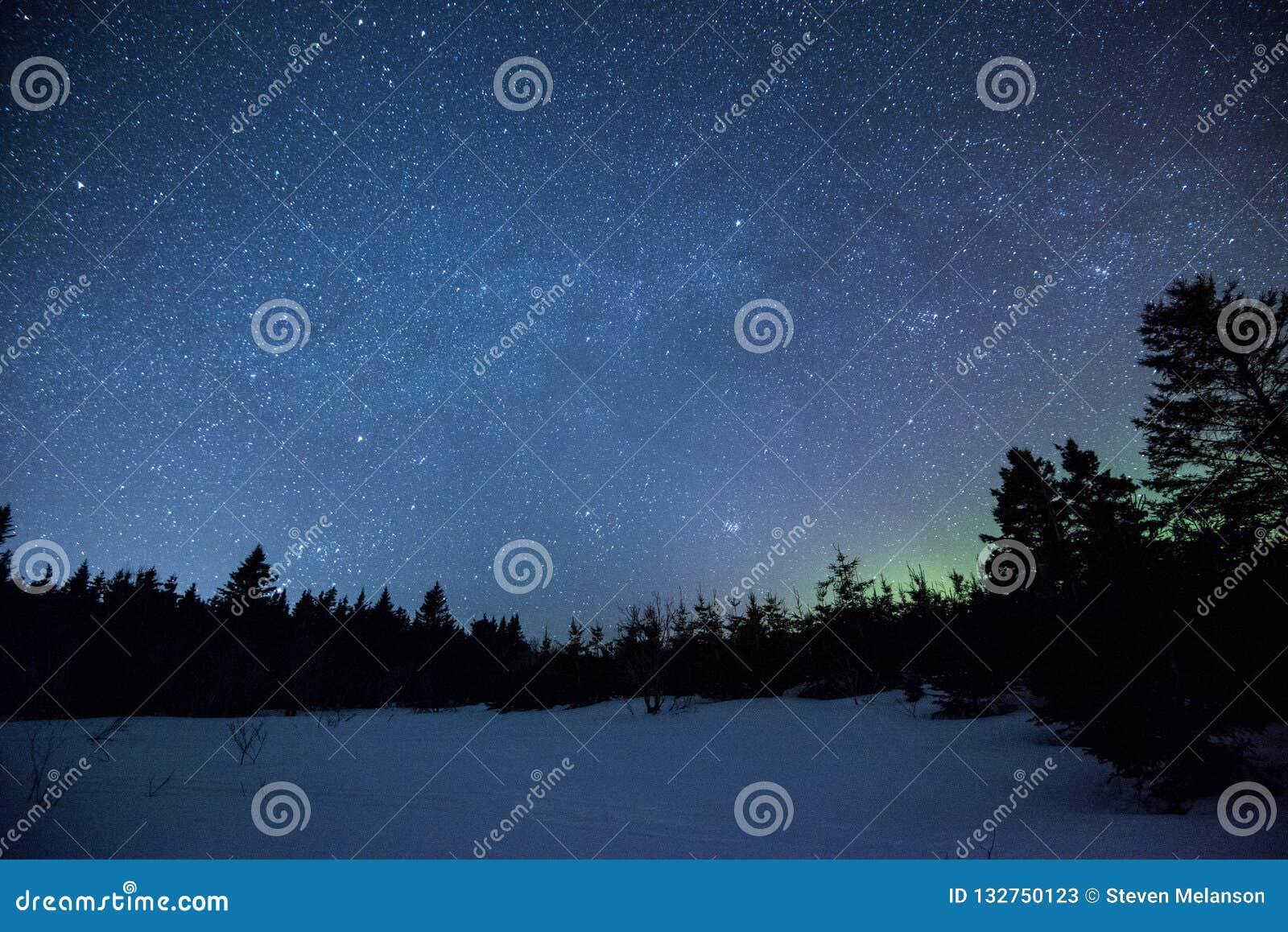 Aurora borealis in nachthemel