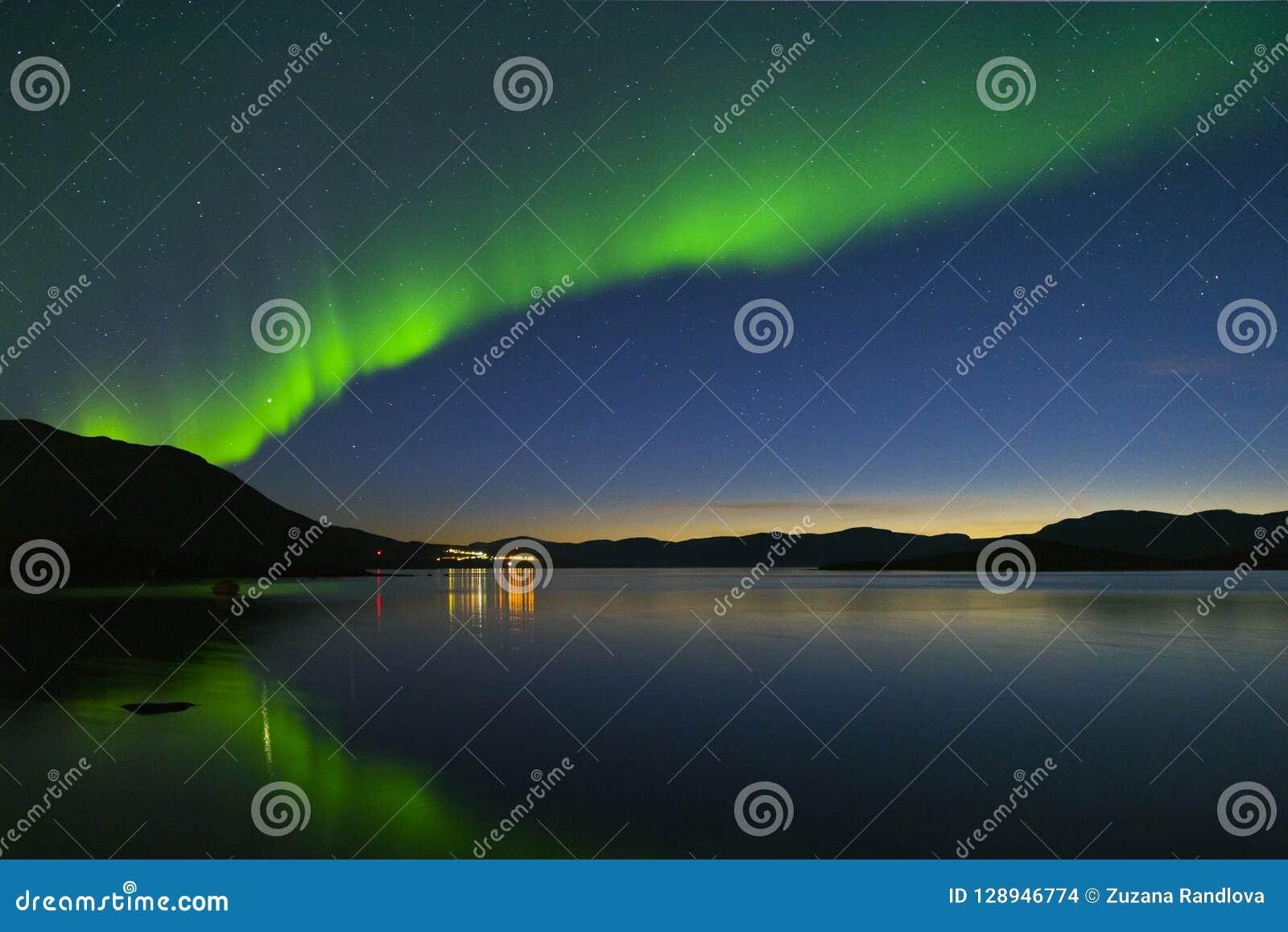 Aurora borealis in Noordelijk Zweden