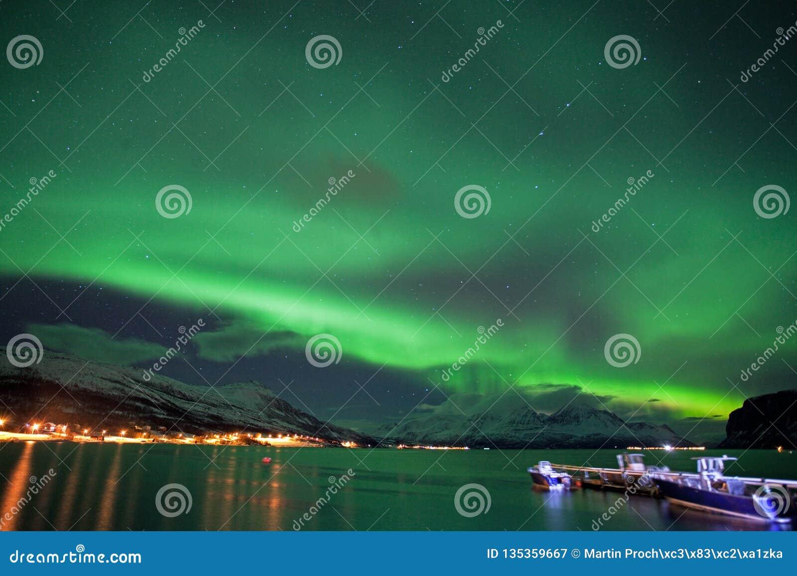 Aurora borealis, Noruega, Tromso