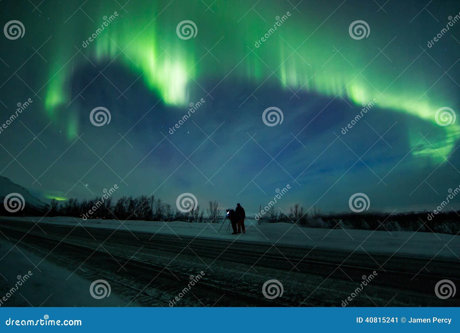 Aurora Borealis Over Scandinavia Stock Image - Image of ...