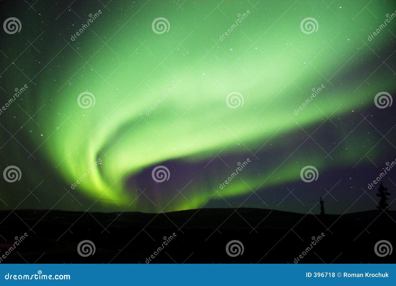 Aurora bright large swirl