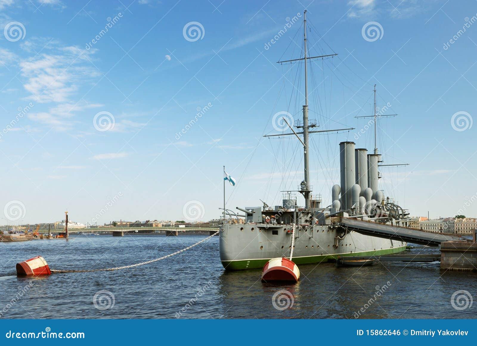 Aurora cruiser in Saint-Petersburg