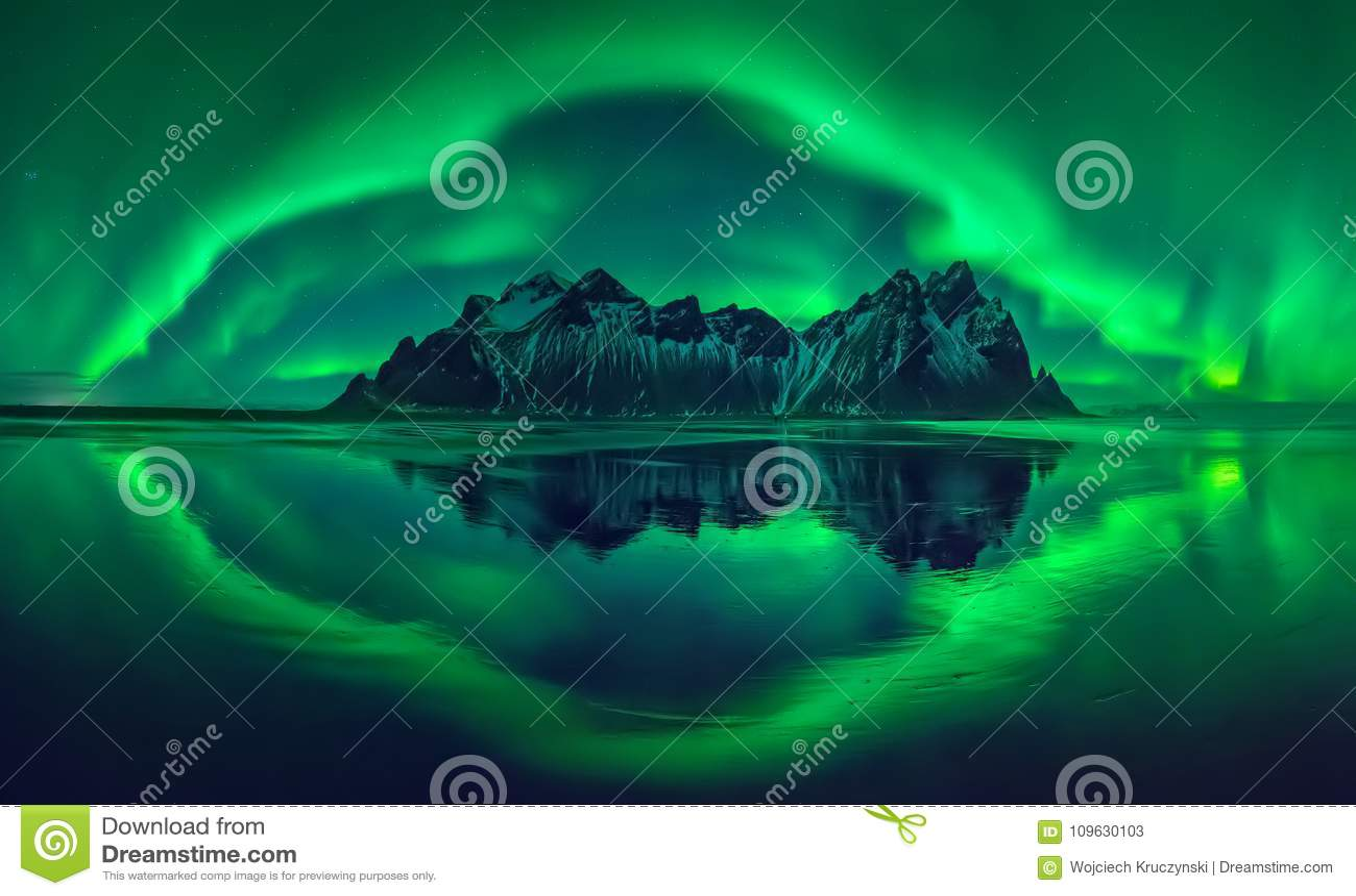 Aurora de Vestrahorn