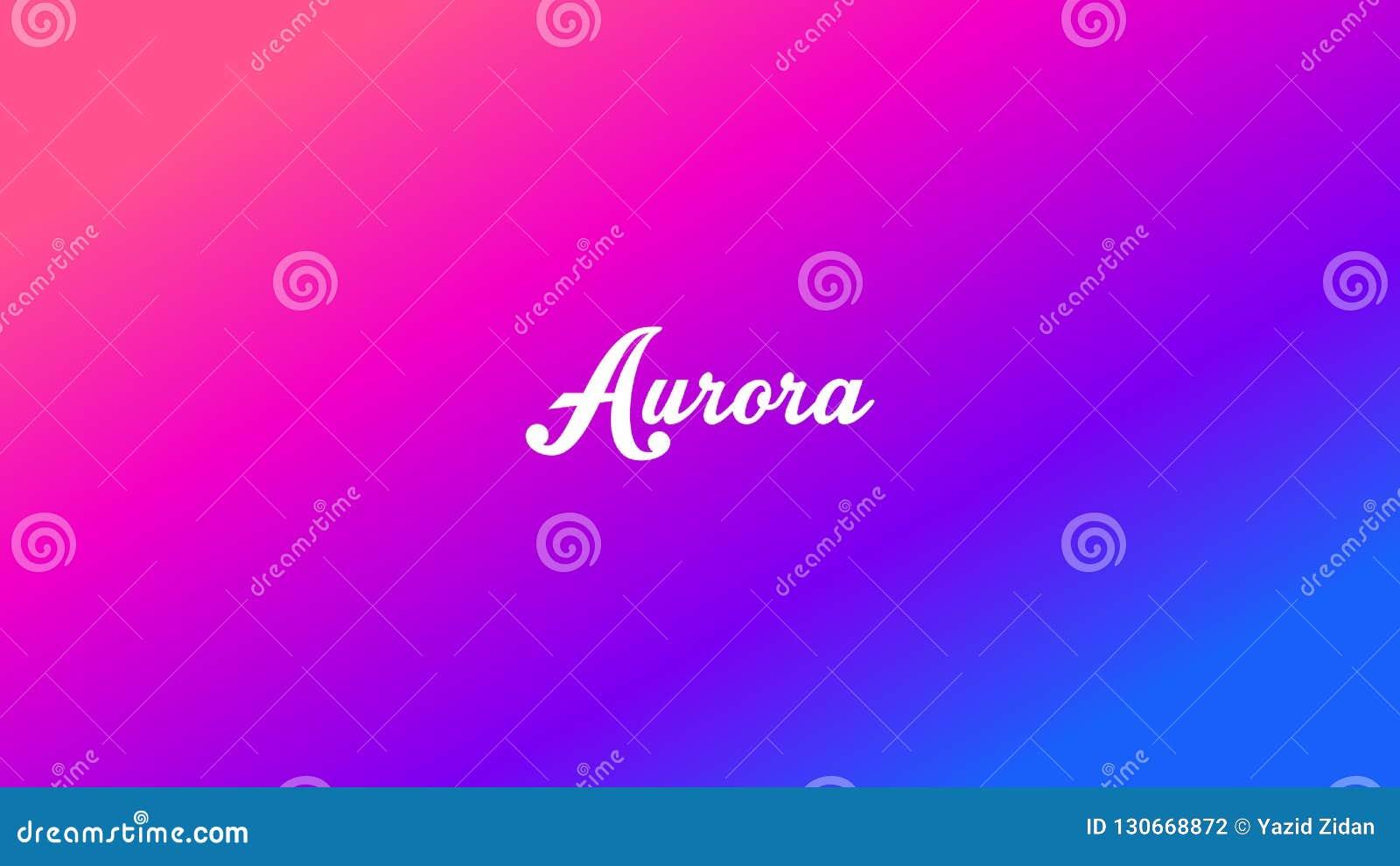 Aurora Gradient Relaxing Wallpaper Background Stock Illustration