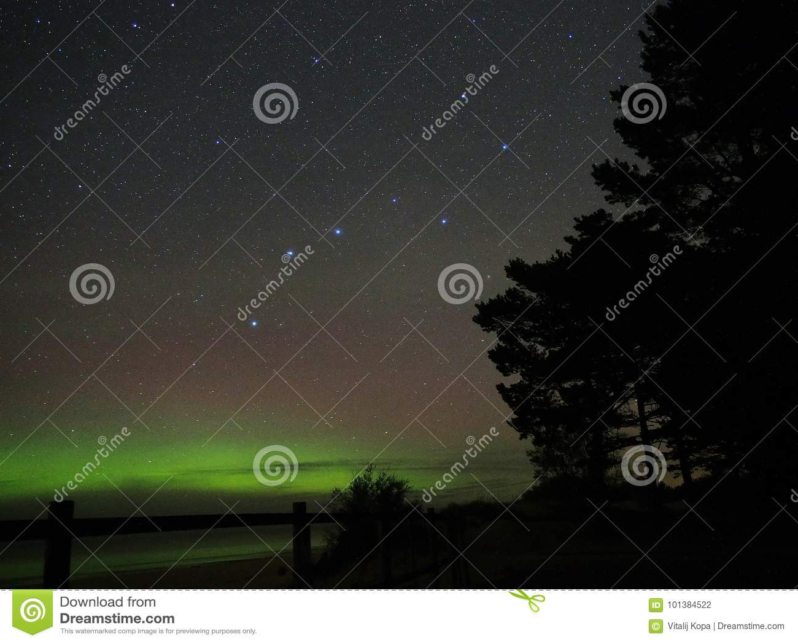 Aurora northern polar lights Big dipper constellation Universe night sky stars