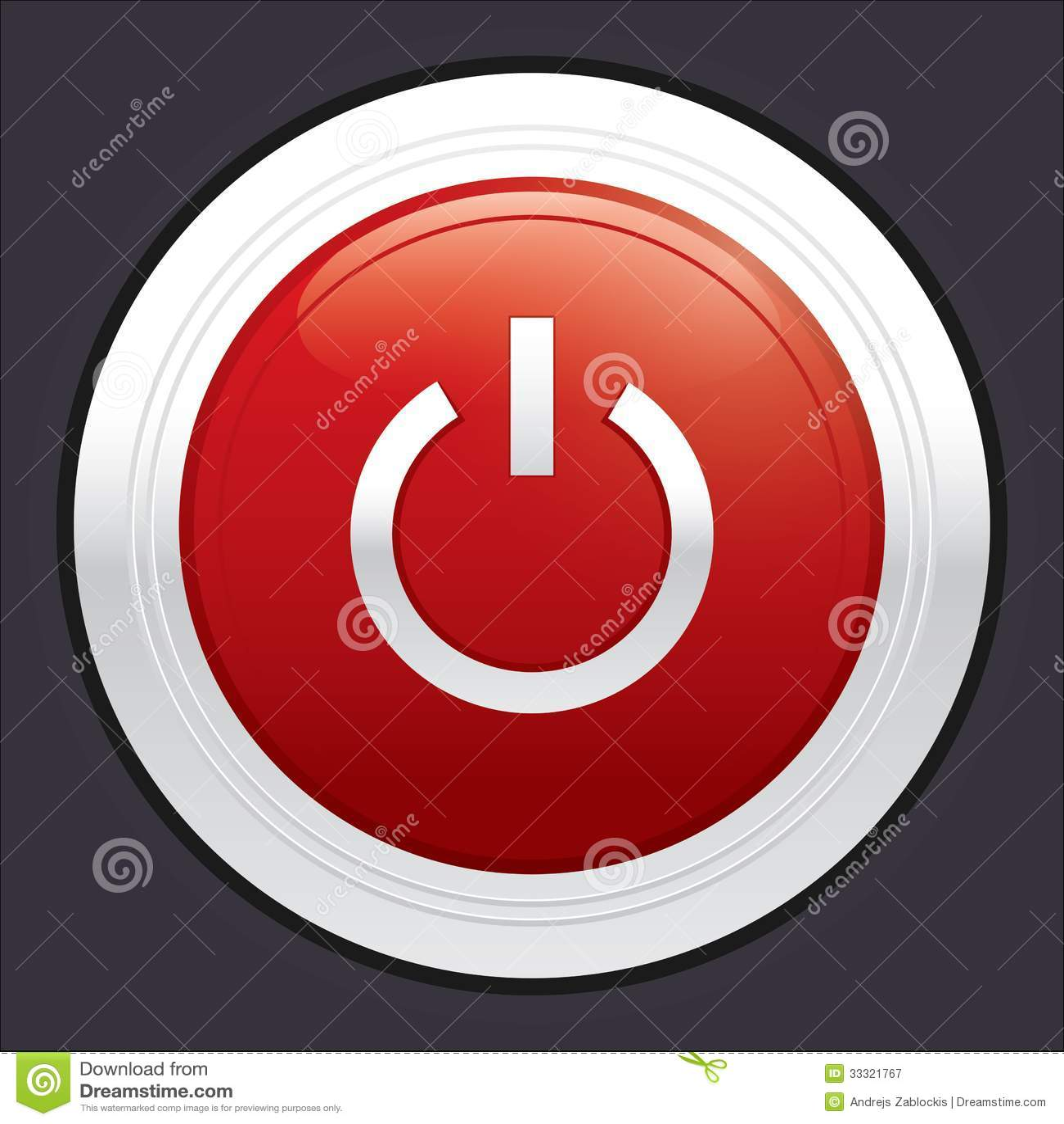 An Aus Schalter Roter Runder Aufkleber Vektor Abbildung