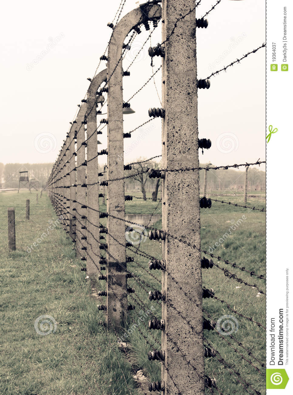 Auschwitz Barbed Wire Fence Editorial Photography - Image of ...