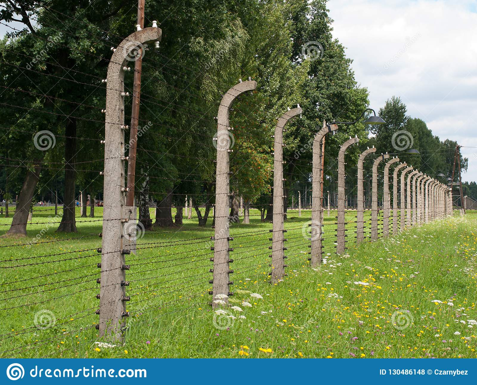 Auschwitz II Birkenau, Polska, Listopad 4, 2014 - Niemiecka Nazistowska koncentracja i eksterminacja obozujemy
