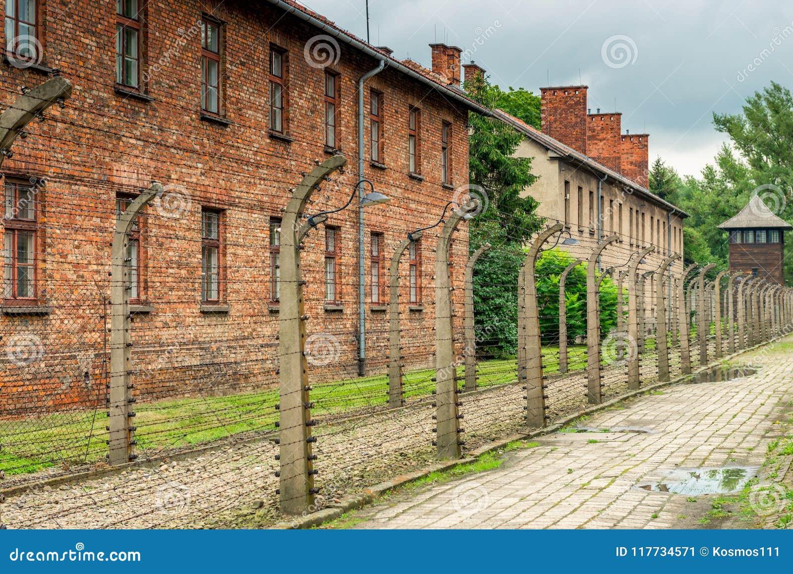 Auschwitz, Polen - Augustus 12, 2017: het concentratiekamp