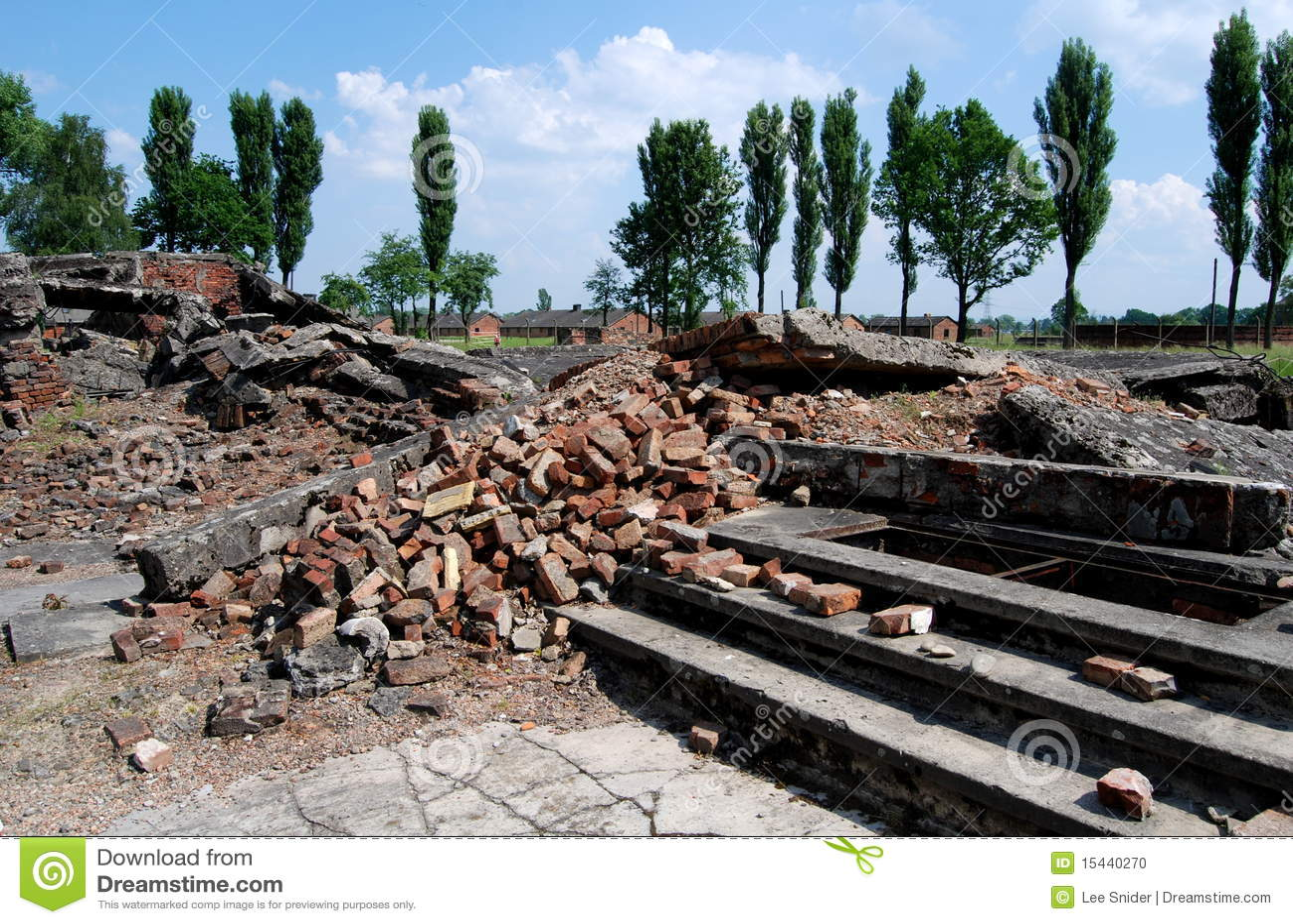 Auschwitz pologne ruines de chambre gaz image ditorial for Auschwitz chambre a gaz
