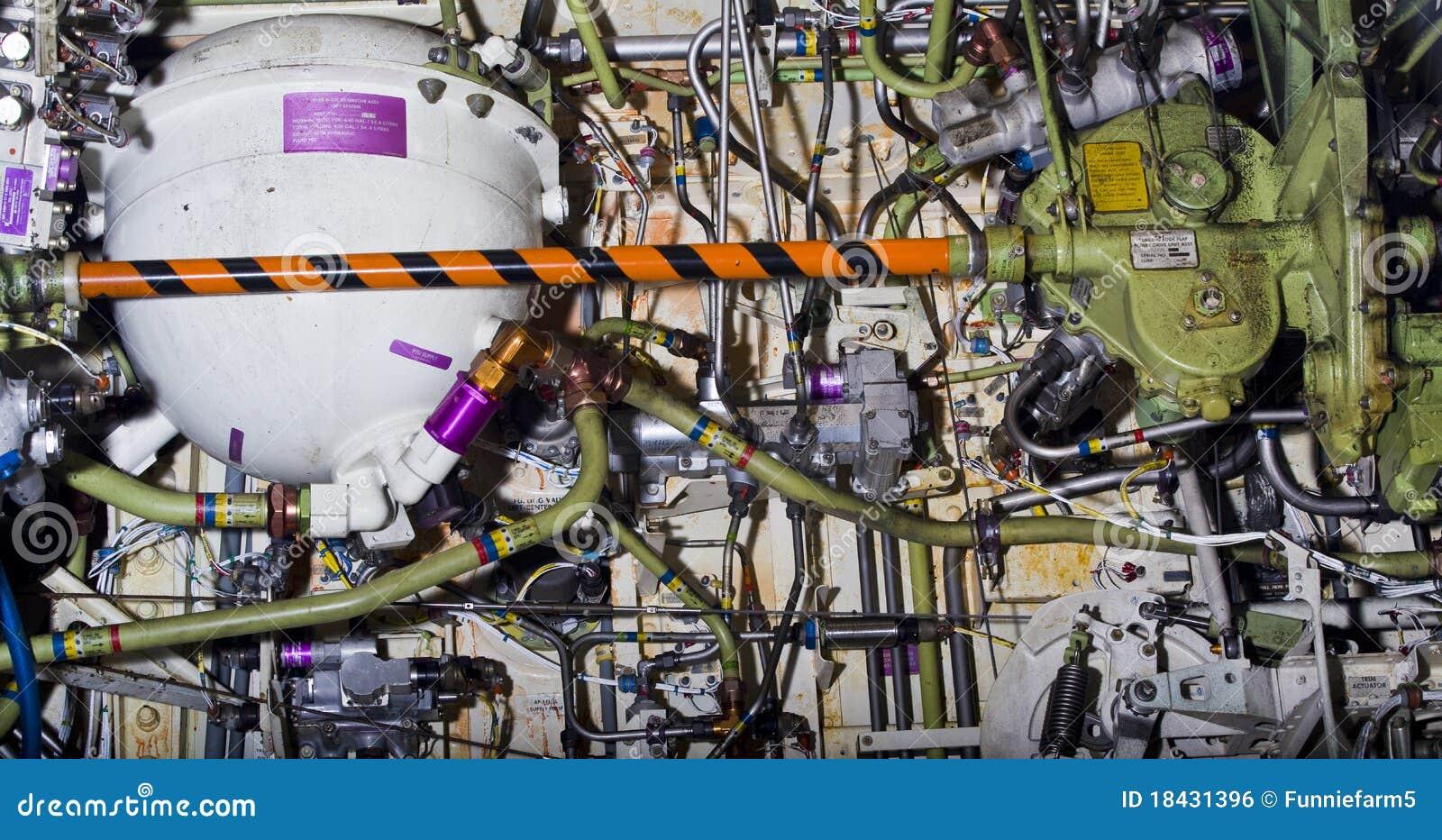 Ausführliche Berührung der Flugzeugteile.
