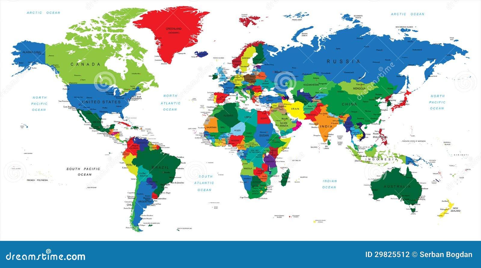 Großartig Weltkarte Mit Städten Das Beste Von Pattern Weltc$karteländer Vektor Abbildung. Tration Von Nord