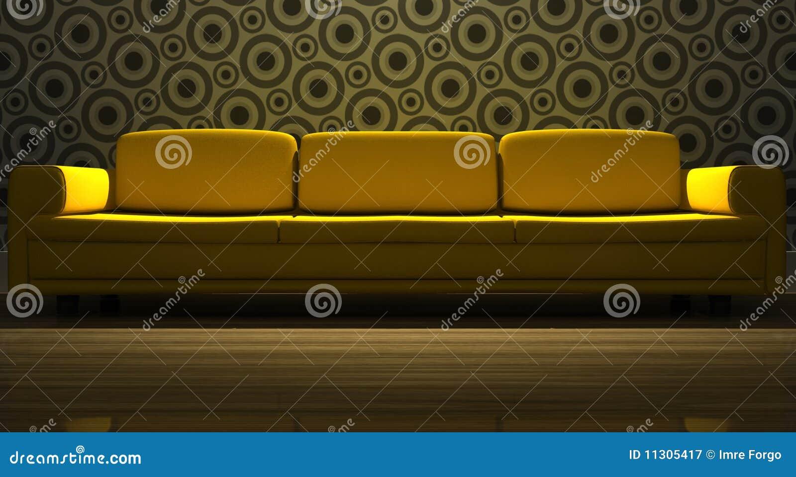 Ausführliches 3d, das modernes Sofa überträgt