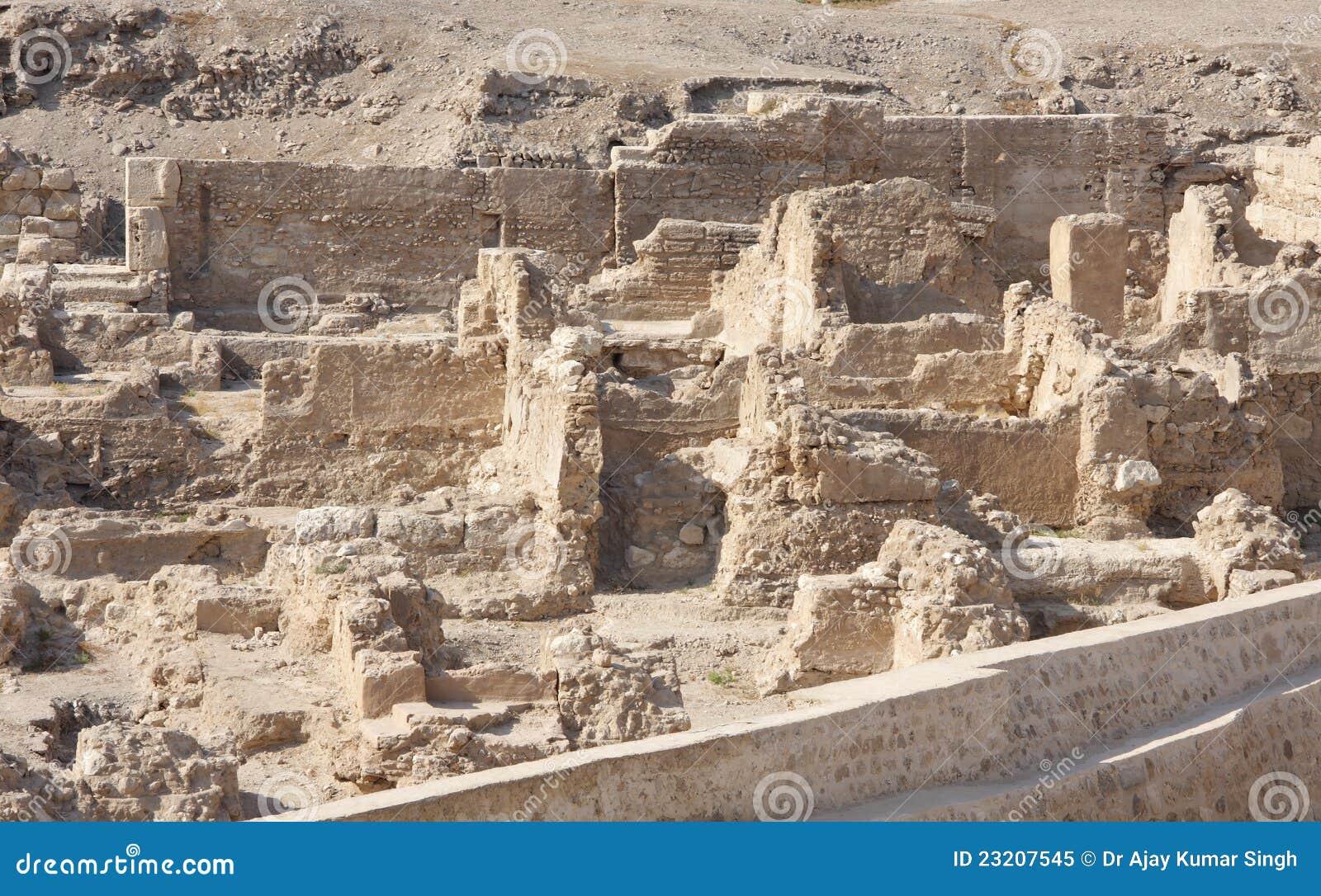 Ausgegrabene Ruinen des portugiesischen Forts in Bahrain