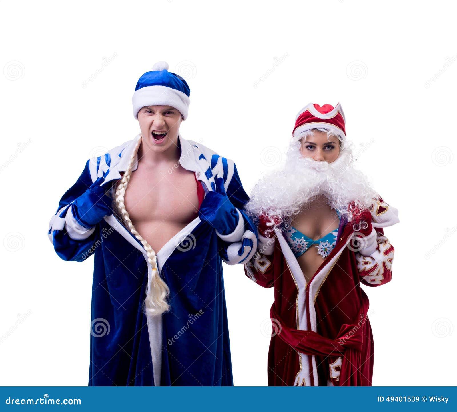 Download Ausgetauschte Körper Des Großvaters Frost Und Des Schnees Mädchen Stockbild - Bild von flexibel, kaukasisch: 49401539
