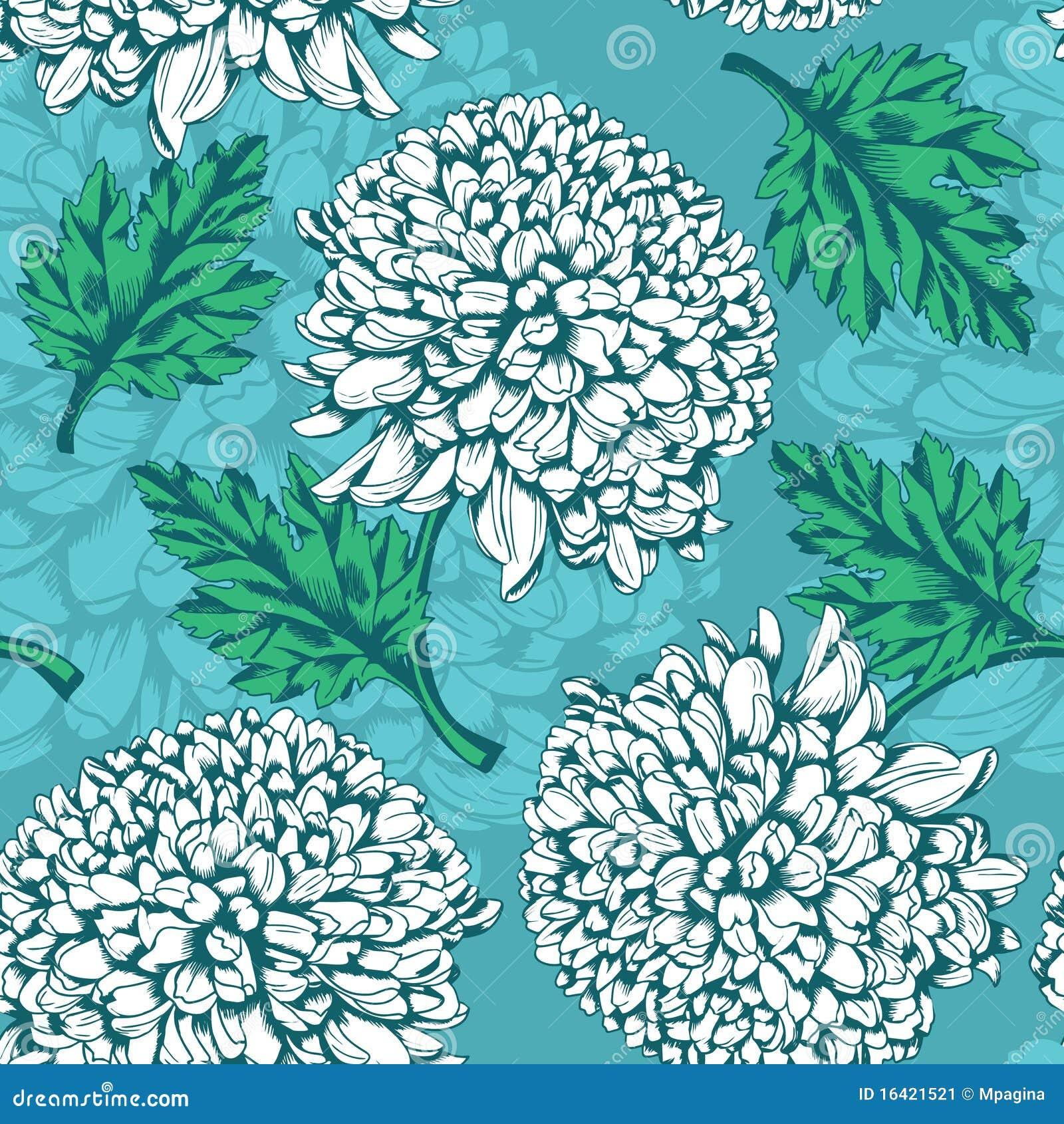 Ausgezeichnetes nahtloses Muster mit Chrysantheme