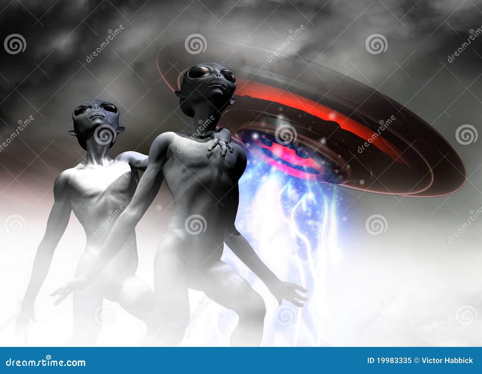 Ausländische Grau und UFO