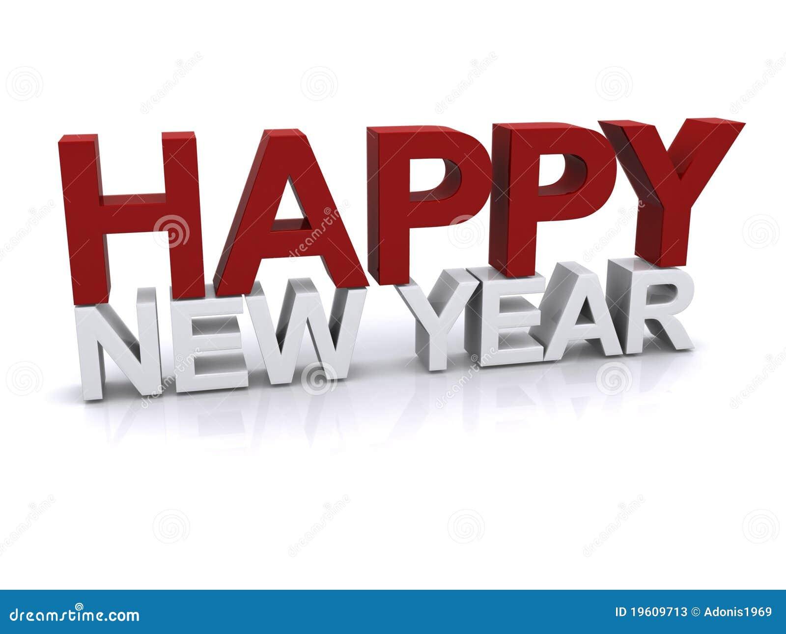 Auslegung des glücklichen neuen Jahres