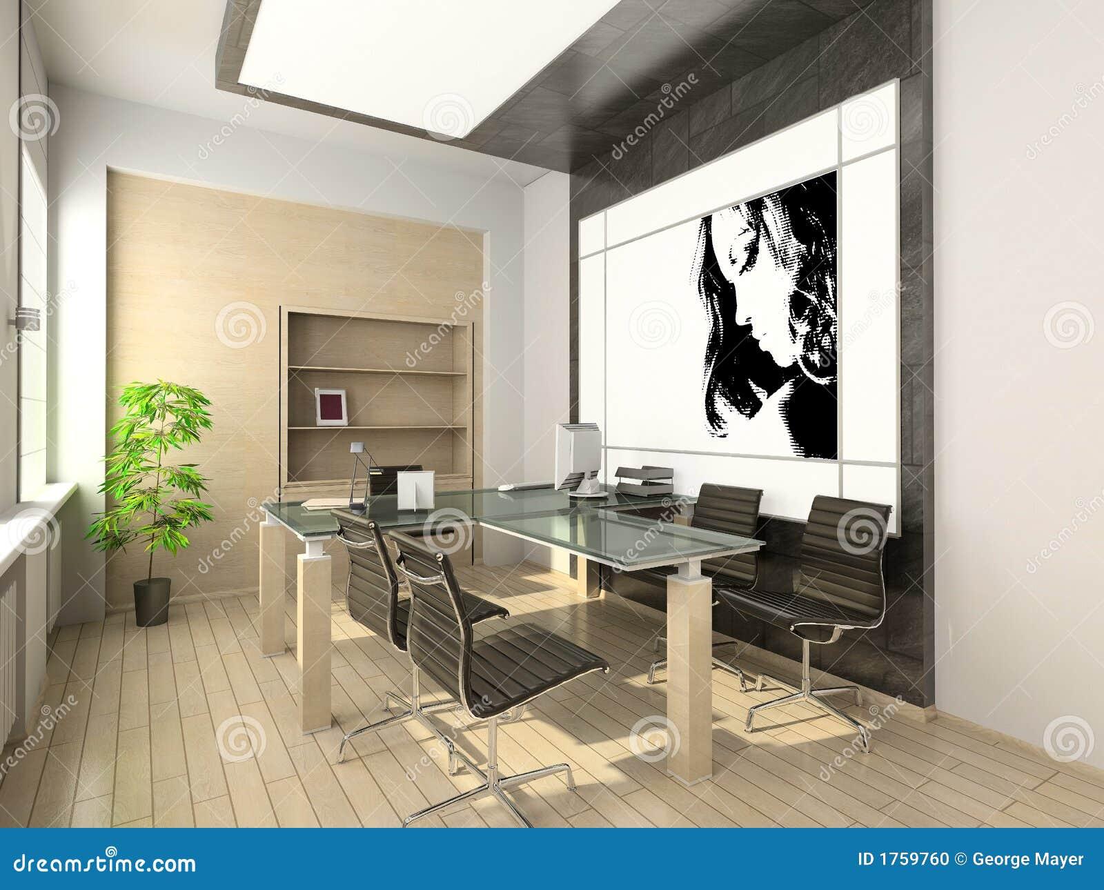 Auslegung des modernen Büros. Hightech- Innenraum.