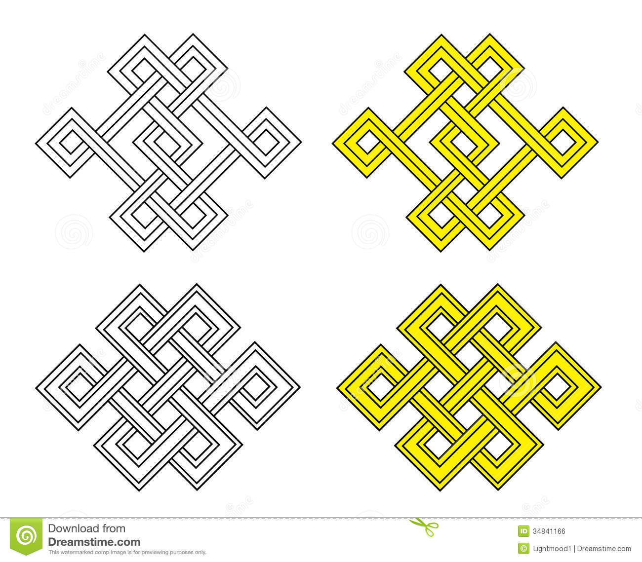 Auspicious Knot Stock Vector Illustration Of Pattern 34841166
