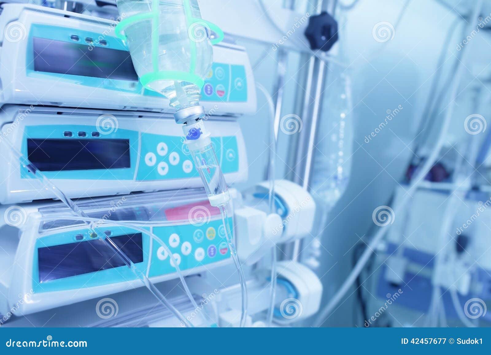 Ausrüstung im Krankenhaus für Behandlung