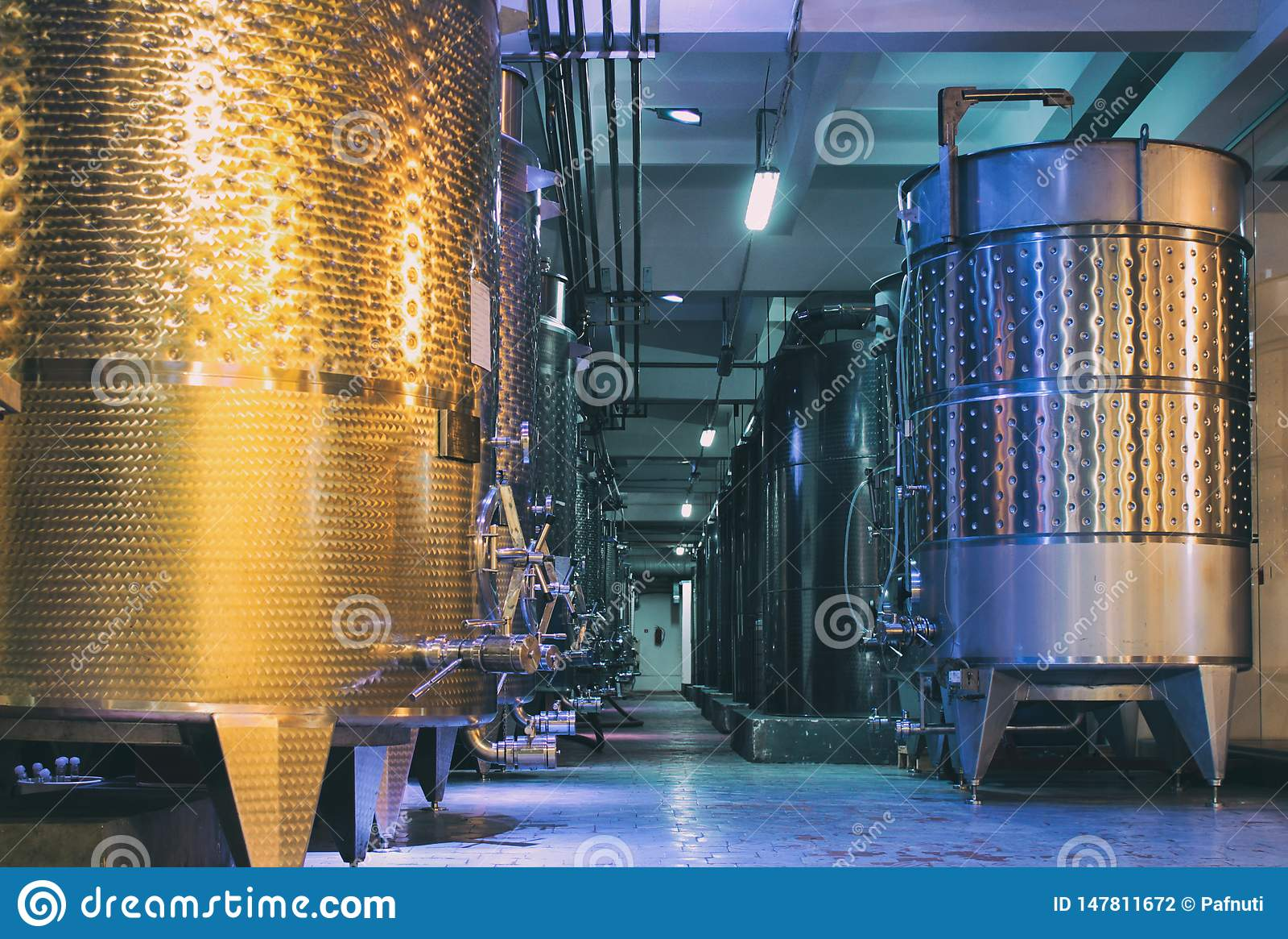Ausr?stung der zeitgen?ssischen Winemakerfabrik