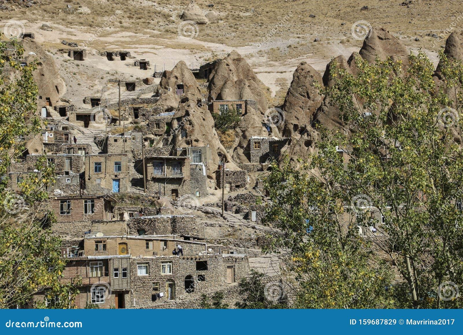 Aussicht Auf Das Felsdorf Kandovan Provinz Ost Aserbaidschan Iran Stockbild Bild Von Aserbaidschan Iran 159687829