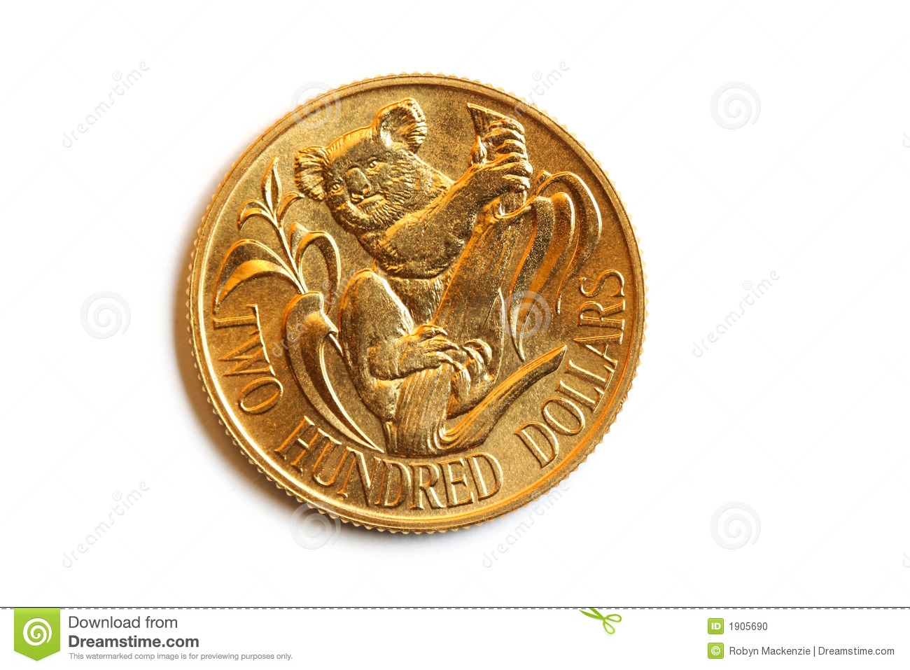 Aussie Gold 200 Coin Stock Photo Image 1905690